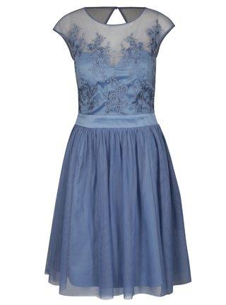 Modré šaty s perličkami Dorothy Perkins