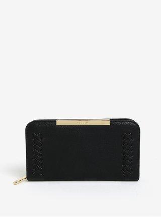 Čierna peňaženka s prešívanými detailmi Bessie London
