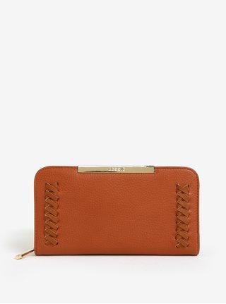 Svetlohnedá peňaženka s prešívanými detailmi Bessie London