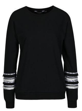 Bluza neagra cu maneci decorative Dorothy Perkins