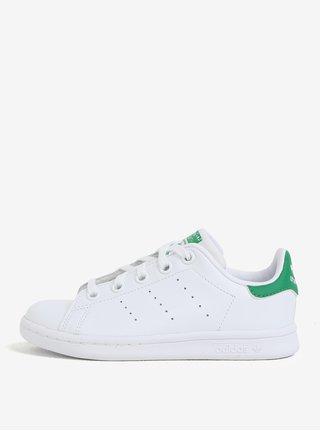 Zeleno-biele detské kožené tenisky adidas Originals Stan Smith C