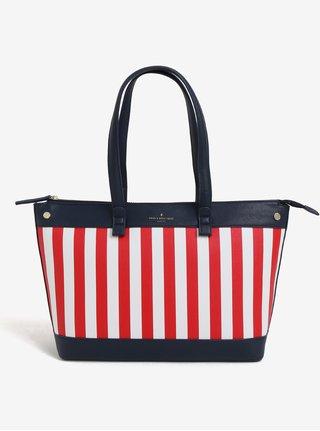 Bílo-červená velká pruhovaná kabelka Paul´s Boutique Olympia