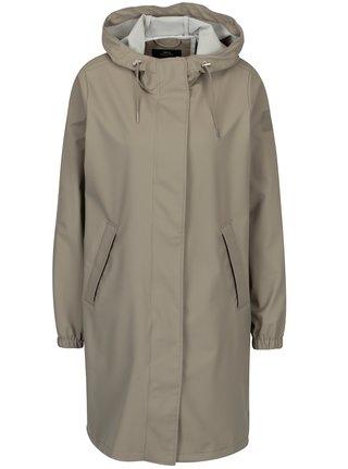 Béžový dámsky vodovzdorný tenký kabát Makia