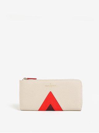 Červeno-krémová veľká peňaženka Paul's Boutique Evie