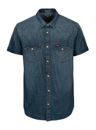 Modrá pánská džínová regular fit košile Wrangler Western