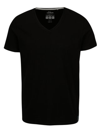 Tricou negru cu anchior pentru barbati s.Oliver