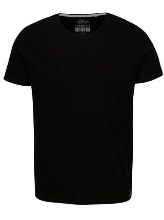 Tricou negru regular fit pentru barbati s. Oliver