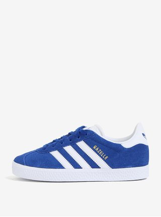 Modré detské semišové tenisky adidas Originals