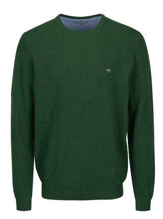 Zelený vzorovaný svetr Fynch-Hatton
