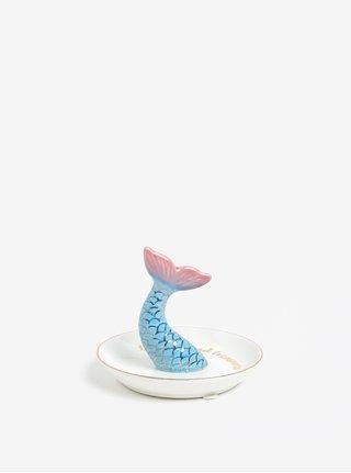 Krémová miska na šperky s motívom morskej panny Sass & Belle Mermaid