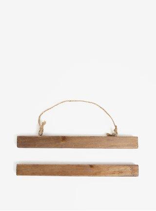 Tmavě hnědý dřevěný držák na plakáty Sass & Belle