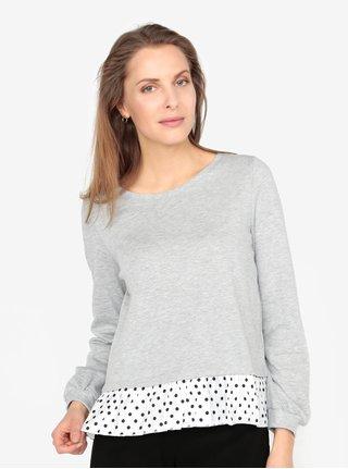 Bluza subtire gri cu terminatie contrastanta - VERO MODA Linit