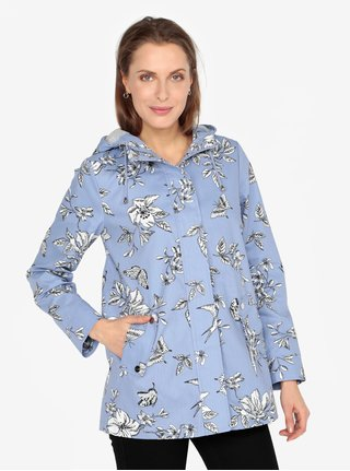 Jacheta impermeabila albastra cu gluga si buzunare- M&Co