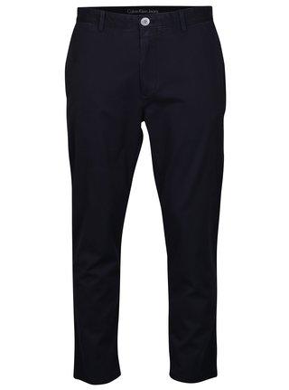 Modré pánske chino nohavice Calvin Klein Jeans Geerd