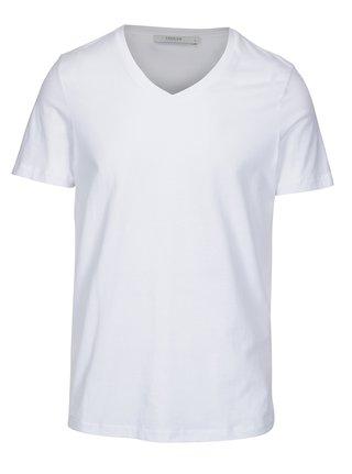 Biele basic tričko s véčkovým výstrihom Jack & Jones Carter
