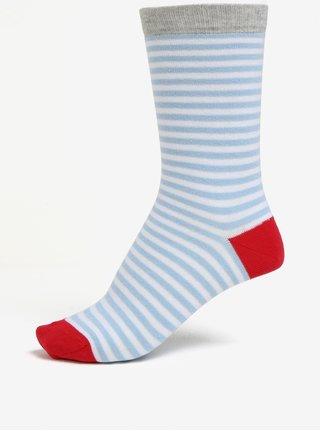 Modro-biele dámske pruhované ponožky ZOOT