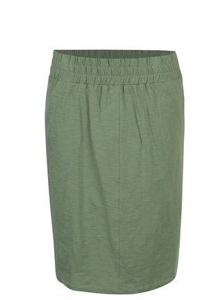 Zelená tepláková sukně s kapsami Tranquillo Leora