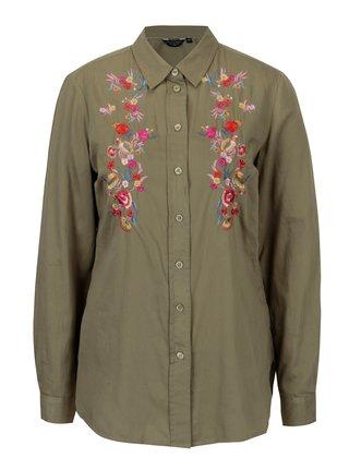 Camasa verde cu broderie florala Dorothy Perkins