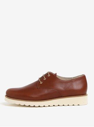 Pantofi maro din piele naturala - OJJU