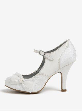 Pantofi alb prafuit cu dantela si funda - Ruby Shoo Maria