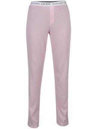 Růžové dámské pruhované pyžamové kalhoty Lauren Ralph Lauren