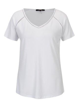 Tricou alb cu detalii perforate si anchior - YEST