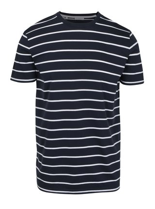 Tricou bleumarin in dungi - Selected Homme Max