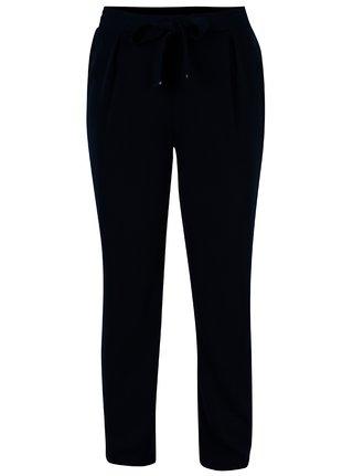 Pantaloni bleumarin cu talie inalta si elastica - Dorothy Perkins