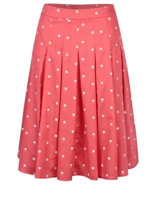 Krémovo-korálová plisovaná sukně Alchymi Sunstone  4e8dcd4e1a