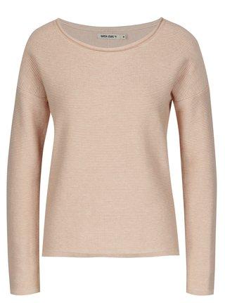 Růžový dámský svetr s knoflíky na zádech Garcia Jeans Serena