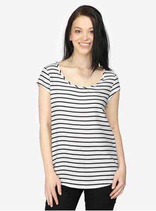 Tricou cu dungi alb & negru si terminatie rotunjita - Haily's Liane