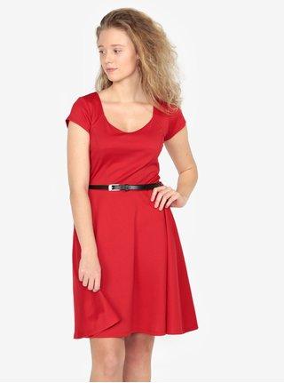 Červené šaty s opaskom ZOOT