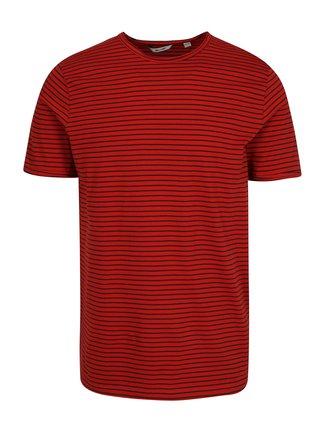 Modro-červené pruhované tričko ONLY & SONS Albert Stripe