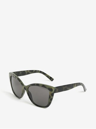 Ochelari de soare cu rama kaki animal print - Cheap Monday Forever