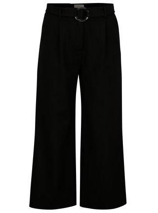 Pantaloni culottes negri cu talie inalta - Selected Femme Aila