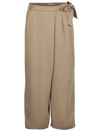 Pantaloni culottes bej cu talie inalta - Selected Femme Cross