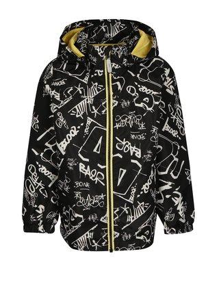 Černá klučičí vzorovaná bunda s kapucí name it Mellon