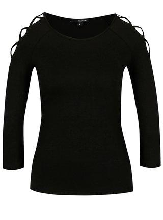 Bluza neagra cu bretele incrucisate pe umeri - TALLY WEiJL