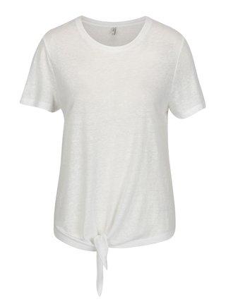 Bílé tričko s uzlem ONLY Uma