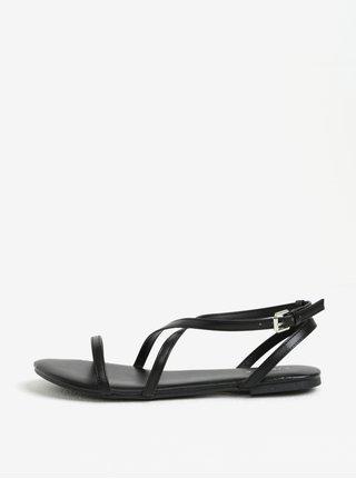 Sandale negre cu barete incrucisate - Pieces Docia