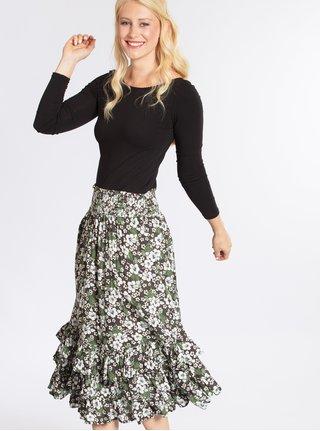 Zeleno-čierna vzorovaná sukňa Blutsgeschwister