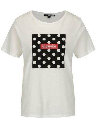 Krémové tričko s potlačou TALLY WEiJL