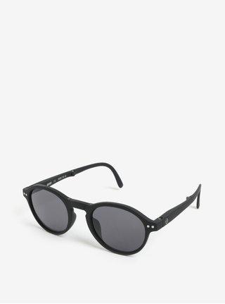 Čierne unisex slnečné skladacie okuliare IZIPIZI #F