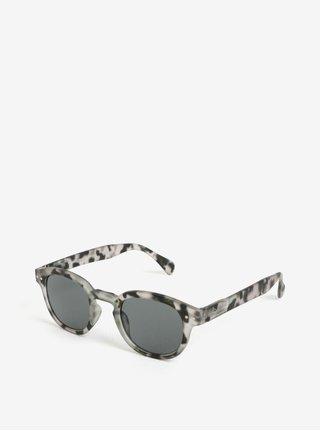 Sivé vzorované unisex slnečné okuliare IZIPIZI  C 3cbdde92994
