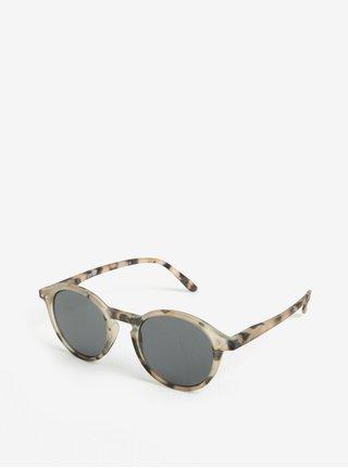 Béžové vzorované unisex slnečné okuliare IZIPIZI #D