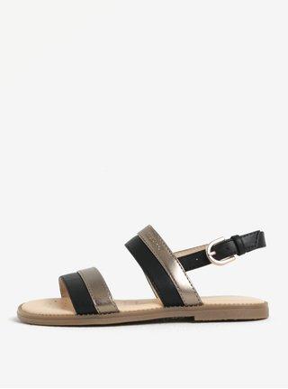 Holčičí sandálky v zlato-černé barvě Geox Karly