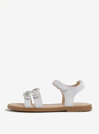 Krémové dievčenské sandáliky Geox Karly