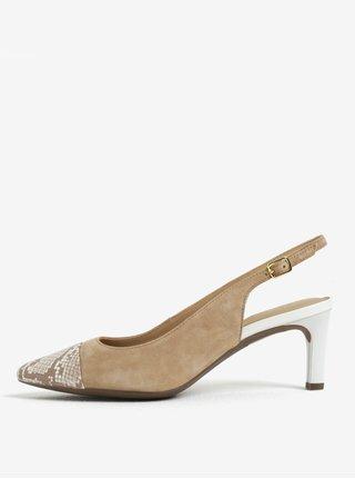 Hnědé semišové sandálky Geox Bibbiana b814ba7a68