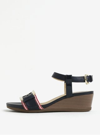 Modré sandále na plnom podpätku Geox Mary Karmen