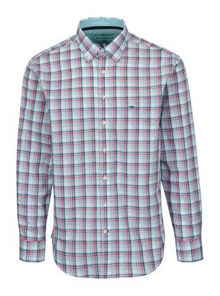 Růžovo-bílá casual fit kostkovaná košile Fynch-Hatton